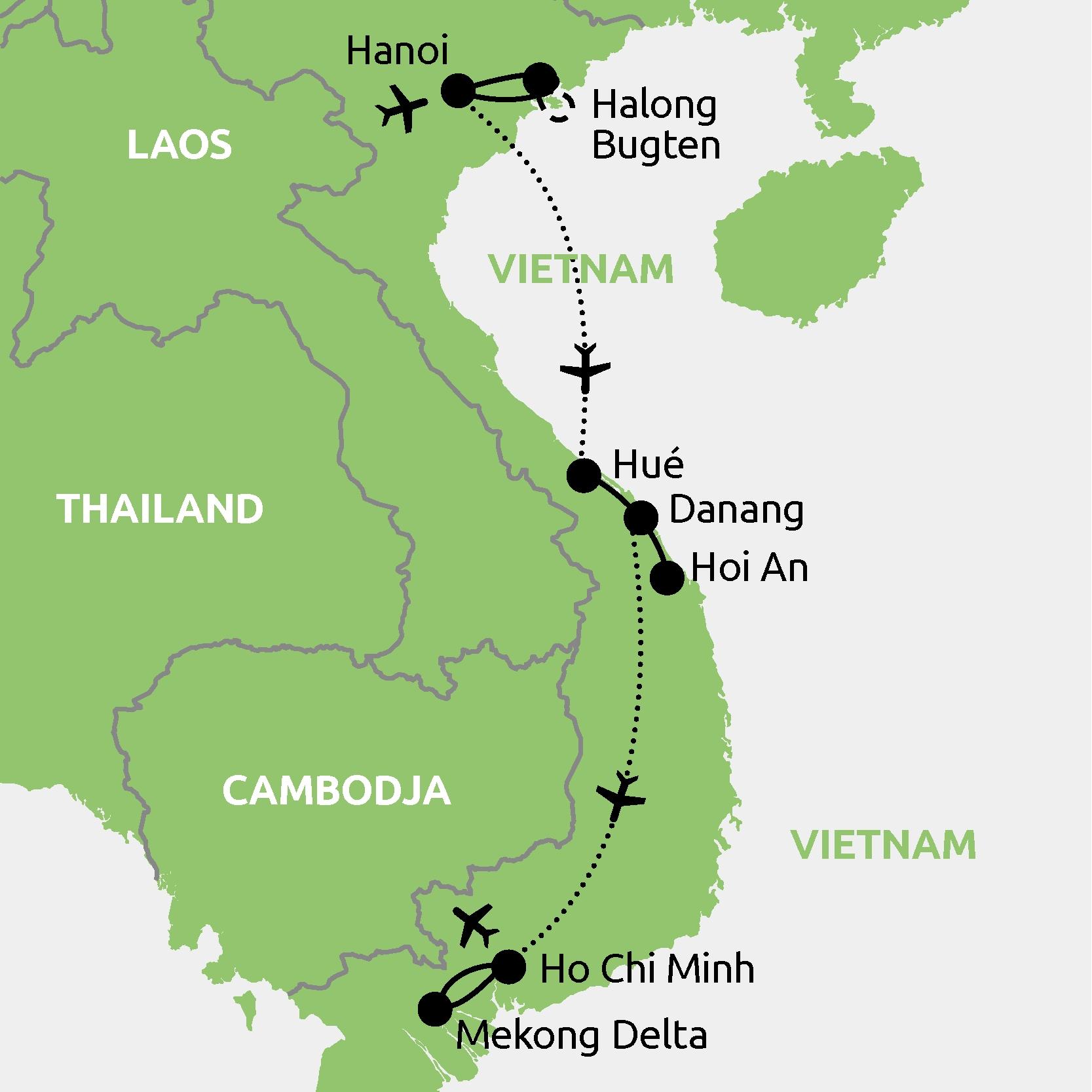 Vietnam Kort Godt Intertravel